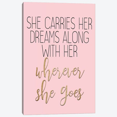 Wherever She Goes 3-Piece Canvas #KAL474} by Kimberly Allen Canvas Wall Art