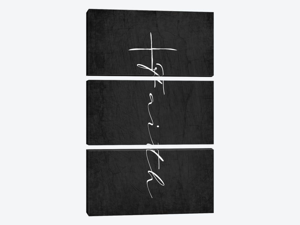 Faith Cross by Kimberly Allen 3-piece Canvas Artwork