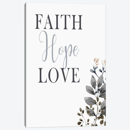Faith Hope Love 3-Piece Canvas #KAL490} by Kimberly Allen Canvas Print