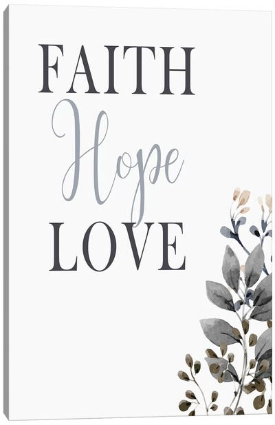 Faith Hope Love Canvas Art Print