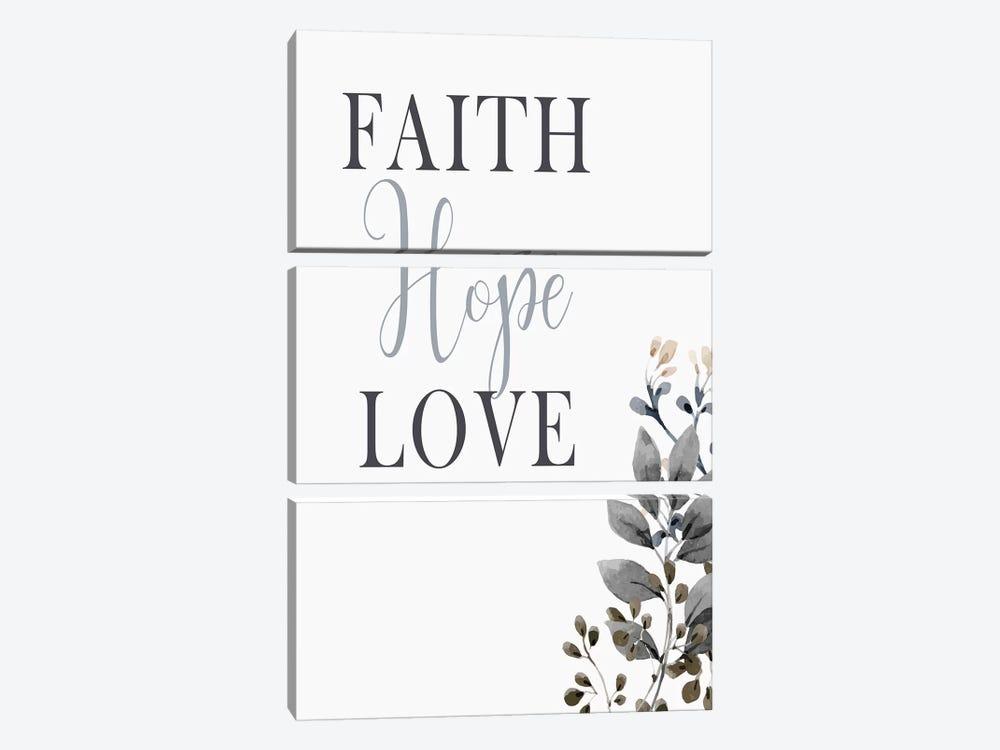 Faith Hope Love by Kimberly Allen 3-piece Art Print