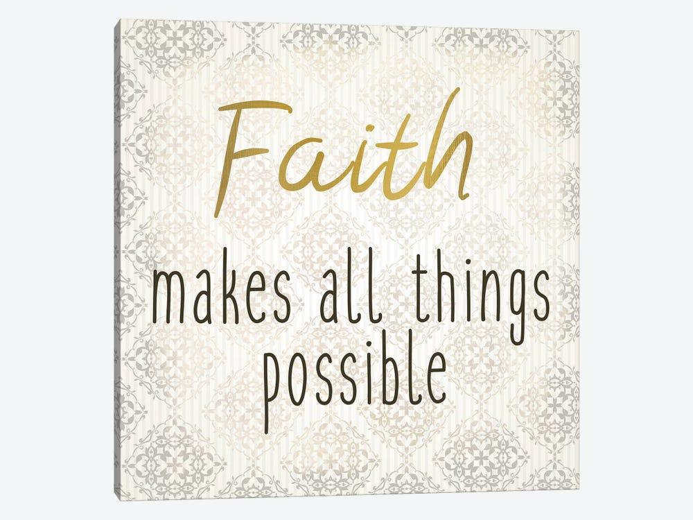 Faith Hope Love I by Kimberly Allen 1-piece Canvas Wall Art