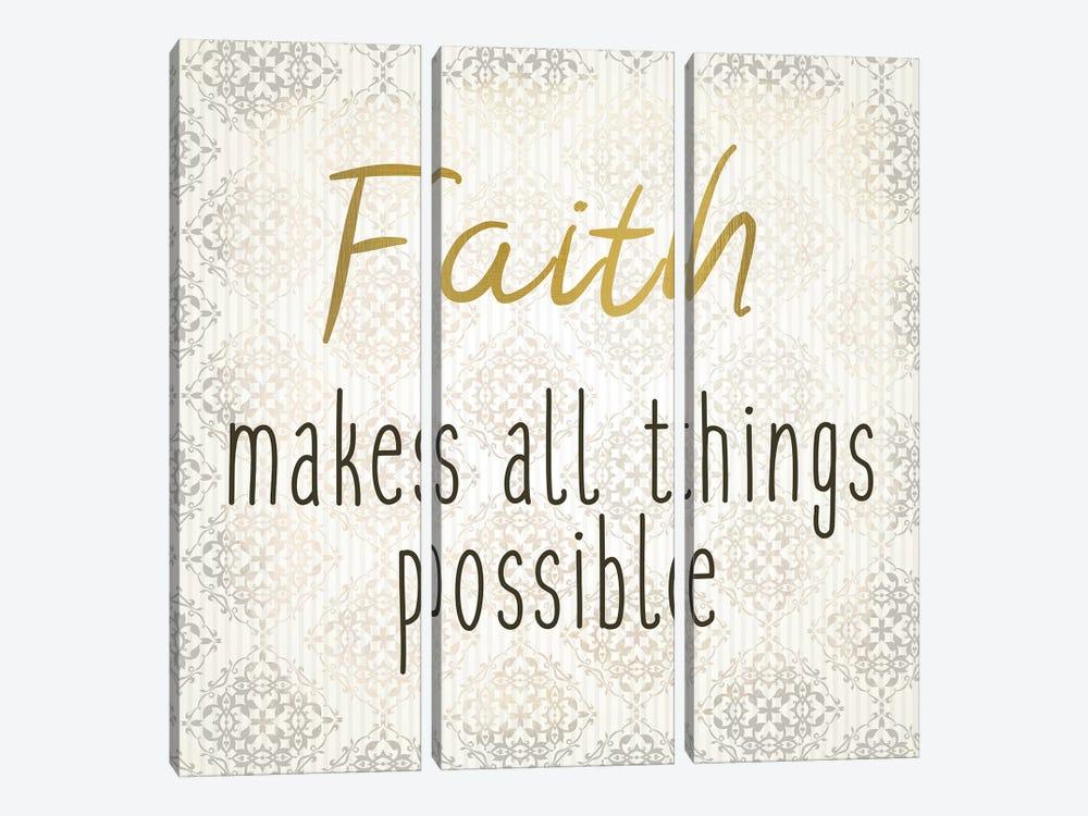 Faith Hope Love I by Kimberly Allen 3-piece Canvas Wall Art