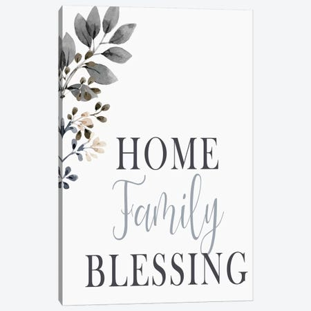 Home Family Blessing Canvas Print #KAL495} by Kimberly Allen Canvas Art