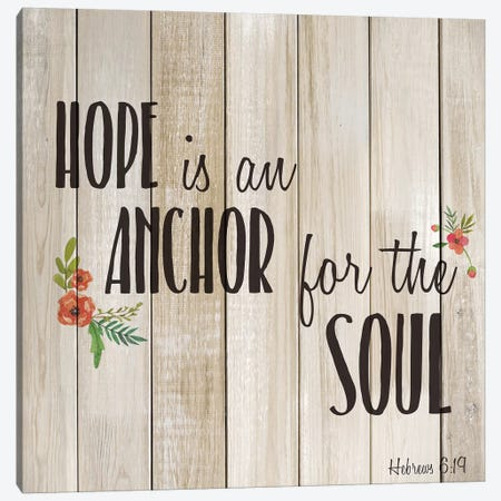 Hope is an Anchor Canvas Print #KAL498} by Kimberly Allen Art Print