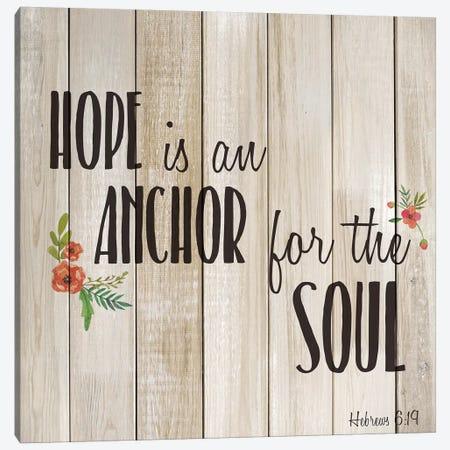 Hope is an Anchor Canvas Print #KAL498} by Kimberly Allen Art Print