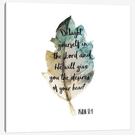 Psalm Leaf IV Canvas Print #KAL4} by Kimberly Allen Canvas Wall Art