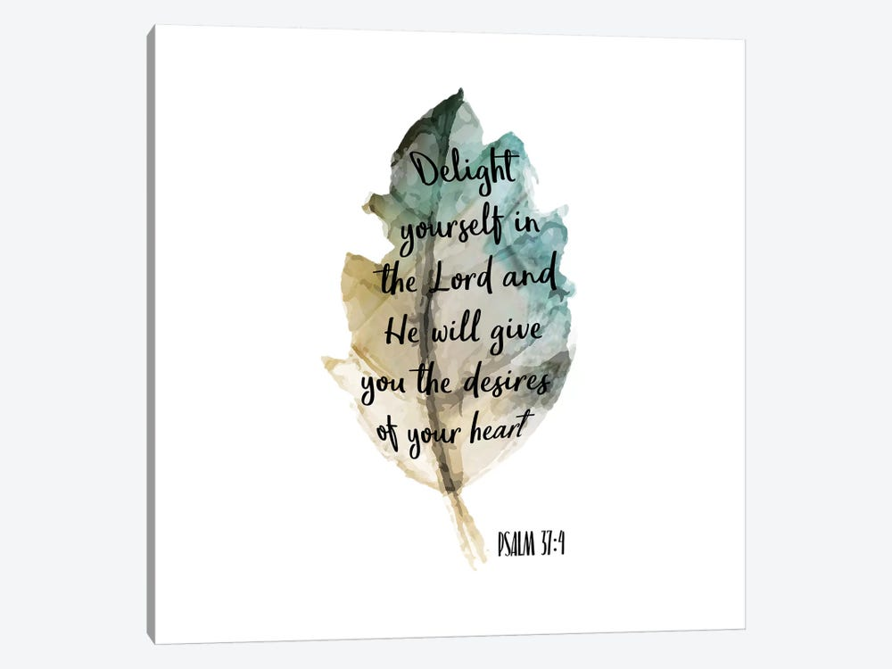 Psalm Leaf IV by Kimberly Allen 1-piece Canvas Art Print