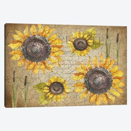 Sunflower Day Canvas Print #KAL507} by Kimberly Allen Canvas Wall Art