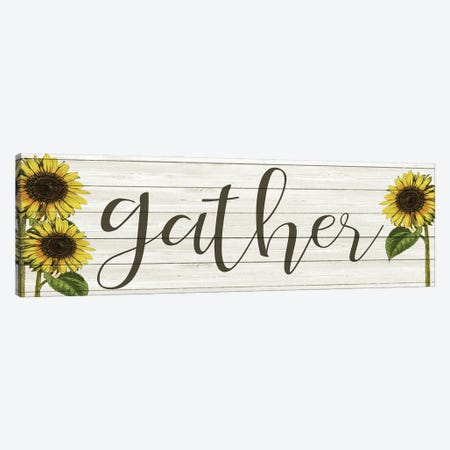 Sunflower Gather Canvas Print #KAL509} by Kimberly Allen Art Print