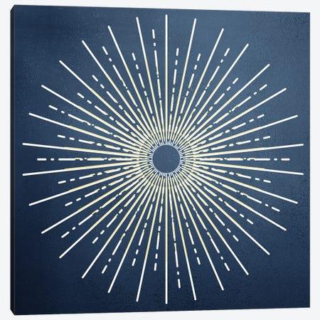 Blue Burst Canvas Print #KAL519} by Kimberly Allen Canvas Wall Art