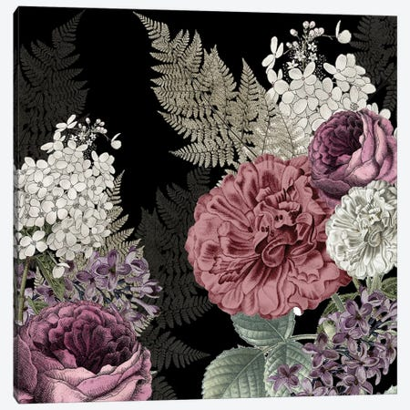 Aria Floral Canvas Print #KAL559} by Kimberly Allen Canvas Wall Art