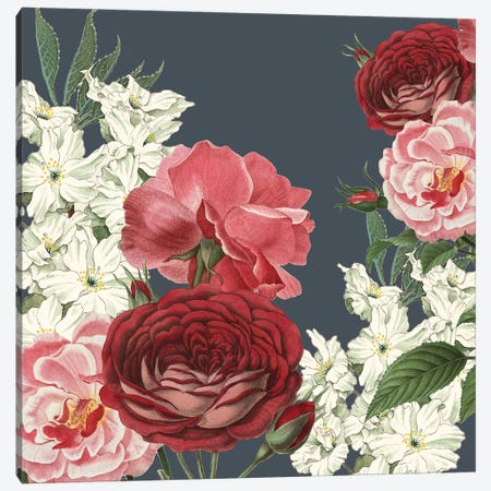 Emma Floral Canvas Print #KAL564} by Kimberly Allen Canvas Art