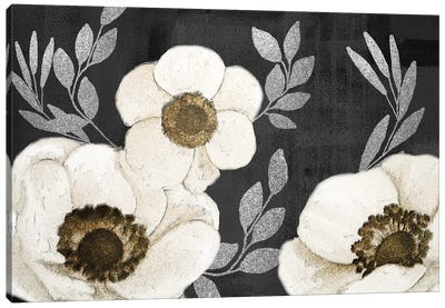 Gilded Anemones Canvas Art Print