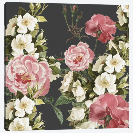 Mia Floral Canvas Print #KAL584} by Kimberly Allen Canvas Art