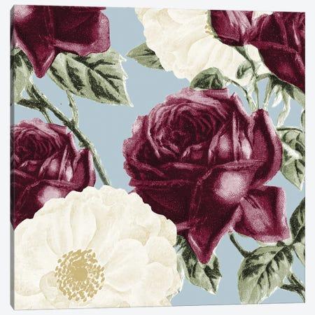 Plum Floral Canvas Print #KAL587} by Kimberly Allen Canvas Artwork