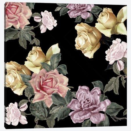 Sophia Floral 3-Piece Canvas #KAL594} by Kimberly Allen Canvas Art Print