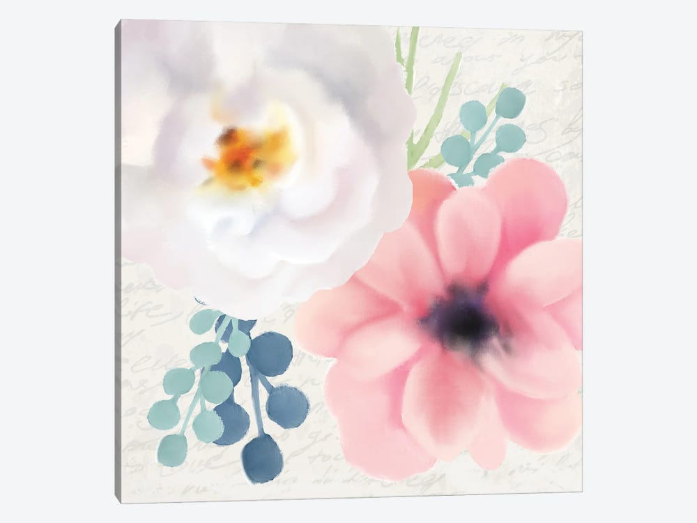 Spring Floral II by Kimberly Allen 1-piece Canvas Artwork