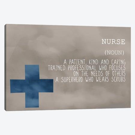 Nurse Blue Canvas Print #KAL605} by Kimberly Allen Canvas Print