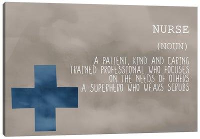 Nurse Blue Canvas Art Print