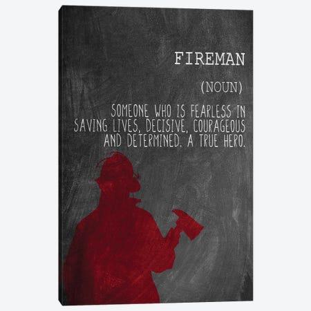 A Fireman Canvas Print #KAL608} by Kimberly Allen Canvas Art
