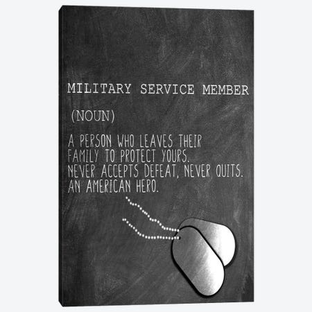 A Military Service Member Canvas Print #KAL609} by Kimberly Allen Canvas Art