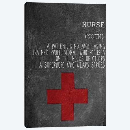 A Nurse Canvas Print #KAL610} by Kimberly Allen Art Print