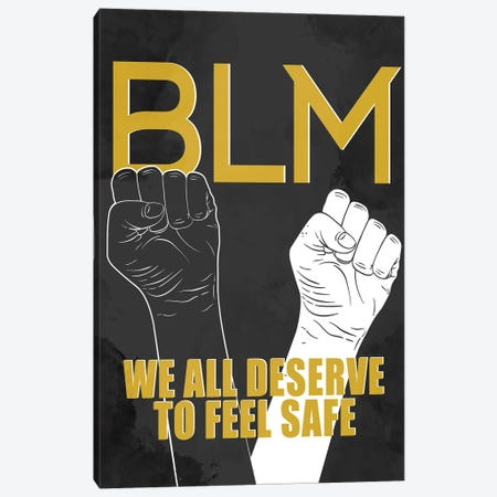 BLM I Canvas Print #KAL614} by Kimberly Allen Canvas Art