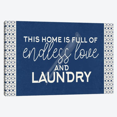 Endless Love and Laundry Canvas Print #KAL629} by Kimberly Allen Canvas Artwork