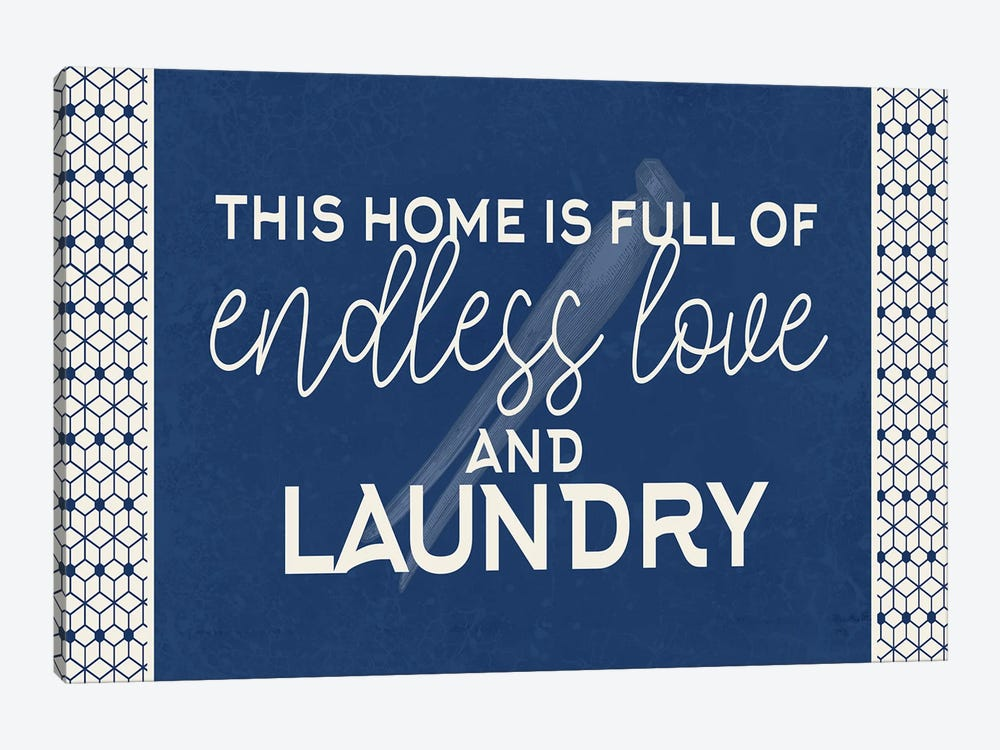 Endless Love and Laundry by Kimberly Allen 1-piece Canvas Artwork