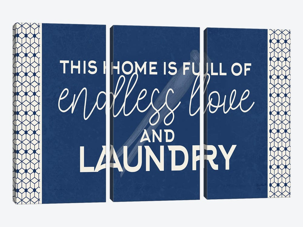 Endless Love and Laundry by Kimberly Allen 3-piece Canvas Artwork