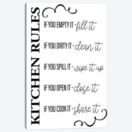 Kitchen Rules Canvas Print #KAL631} by Kimberly Allen Canvas Art Print