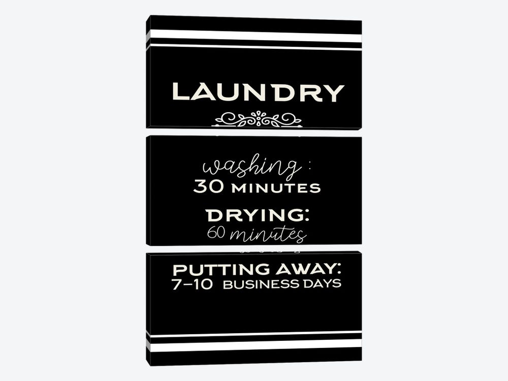 Laundry Days by Kimberly Allen 3-piece Canvas Print