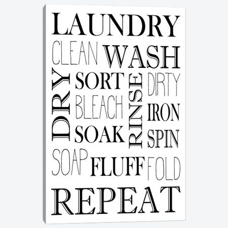 Repeat Laundry Canvas Print #KAL644} by Kimberly Allen Art Print