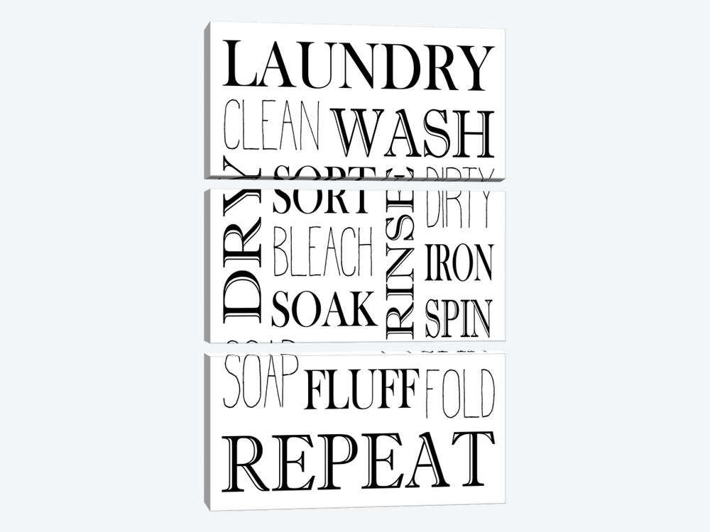 Repeat Laundry by Kimberly Allen 3-piece Art Print