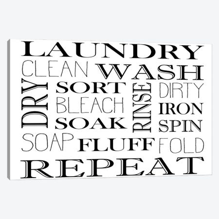 Repeat Laundry Horizontal Canvas Print #KAL645} by Kimberly Allen Canvas Art Print
