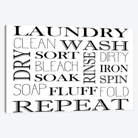 Repeat Laundry Horizontal Canvas Print #KAL645} by Kimberly Allen Canvas Art Print