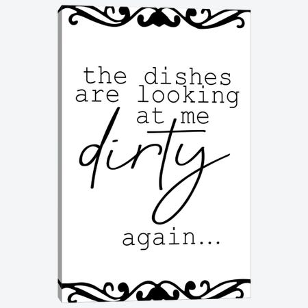 The Dishes Canvas Print #KAL647} by Kimberly Allen Art Print