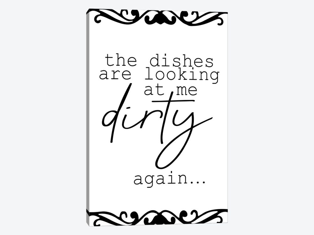 The Dishes by Kimberly Allen 1-piece Canvas Art