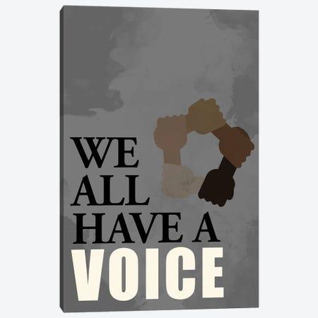 Voice Canvas Print #KAL671} by Kimberly Allen Canvas Print
