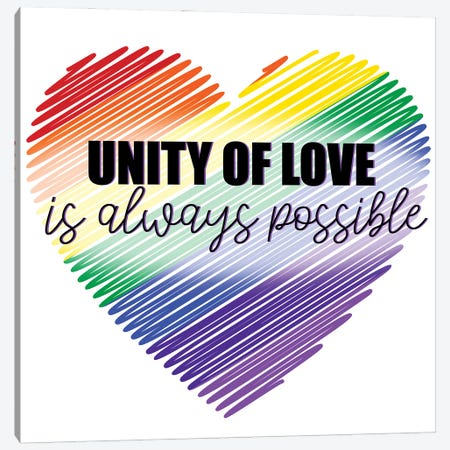 Unity of Love Canvas Print #KAL676} by Kimberly Allen Canvas Art