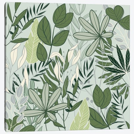 Leaf Love I Canvas Print #KAL697} by Kimberly Allen Canvas Art
