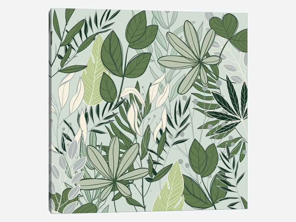 Leaf Love I by Kimberly Allen 1-piece Canvas Print