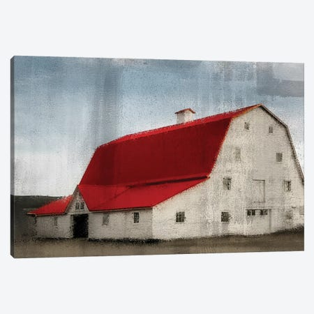 Red Roof Barn Canvas Print #KAL73} by Kimberly Allen Canvas Wall Art