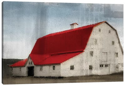 Red Roof Barn Canvas Art Print