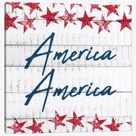 America America Canvas Print #KAL74} by Kimberly Allen Canvas Art Print