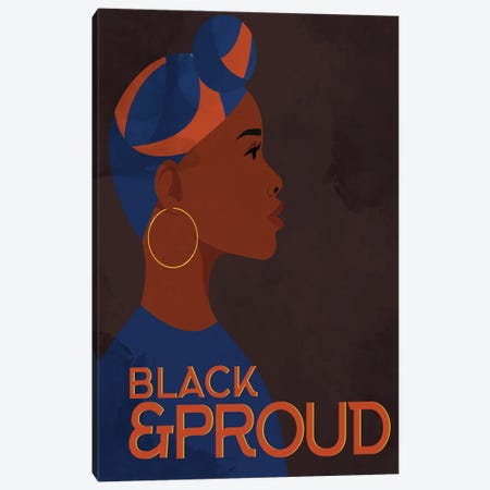 Black and Proud Woman Canvas Print #KAL756} by Kimberly Allen Canvas Art Print