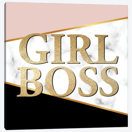 Girl Boss I Canvas Print #KAL797} by Kimberly Allen Canvas Art Print