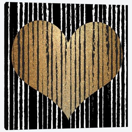 Heart Stripes Canvas Print #KAL802} by Kimberly Allen Canvas Art