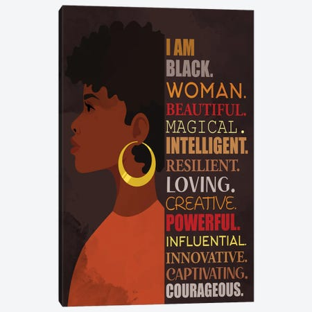 I Am Canvas Print #KAL808} by Kimberly Allen Canvas Wall Art